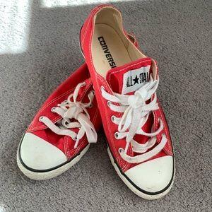 Women's red converse sneaker